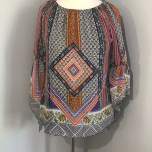 New Directions Boho Flowy Top sz Large